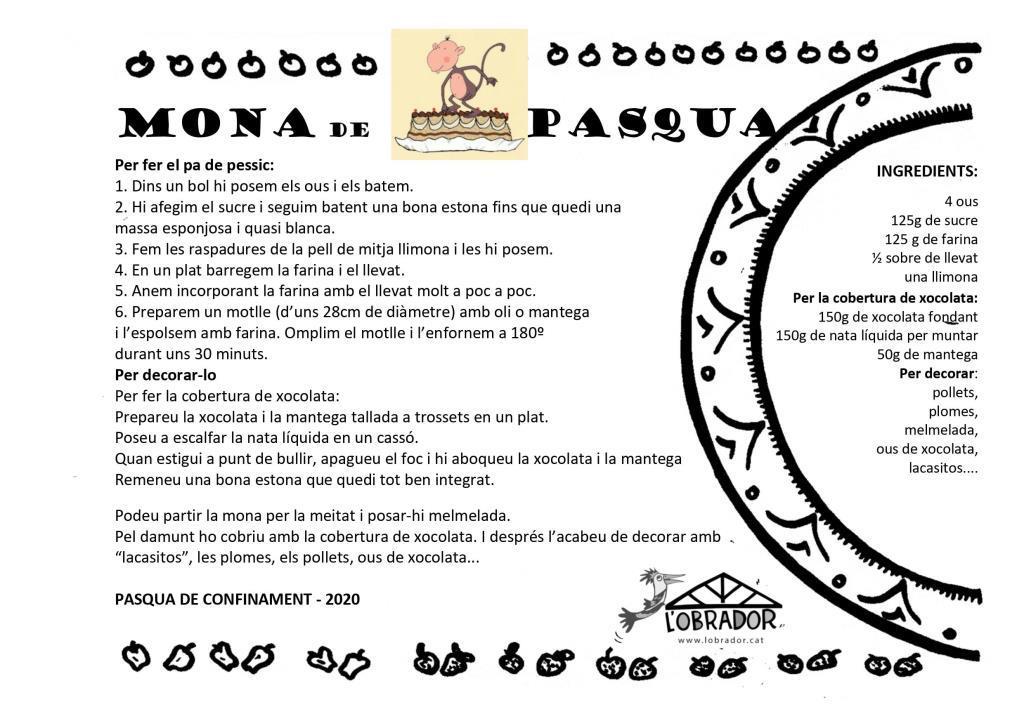 Mona de Pasqua de L'Obrador2020